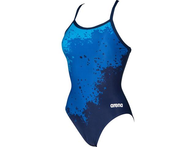 arena Spraypaint Light Drop Back One Piece Swimsuit Women navy/navy